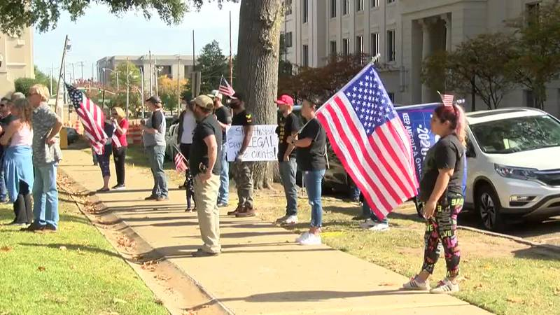 """Trump supporters protest in Jackson to """"Stop the Steal"""" of the presidential election"""
