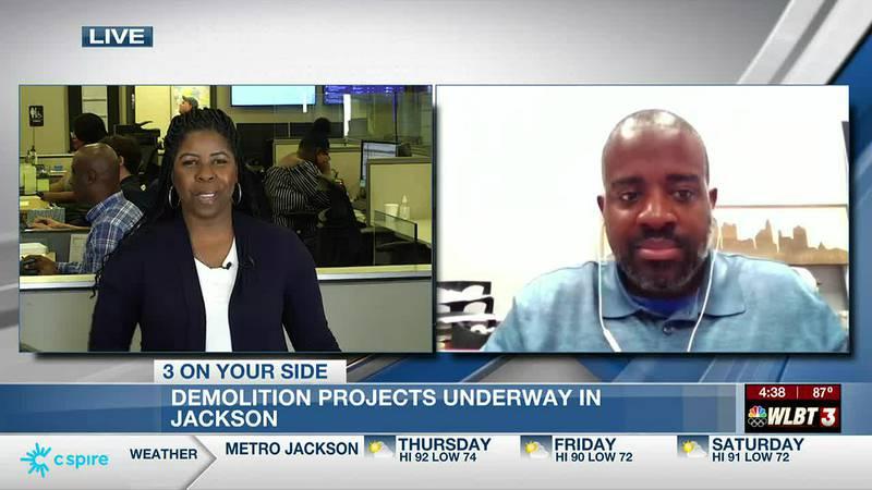 Ronnie Crudup Jr. discusses demolition work in Jackson.
