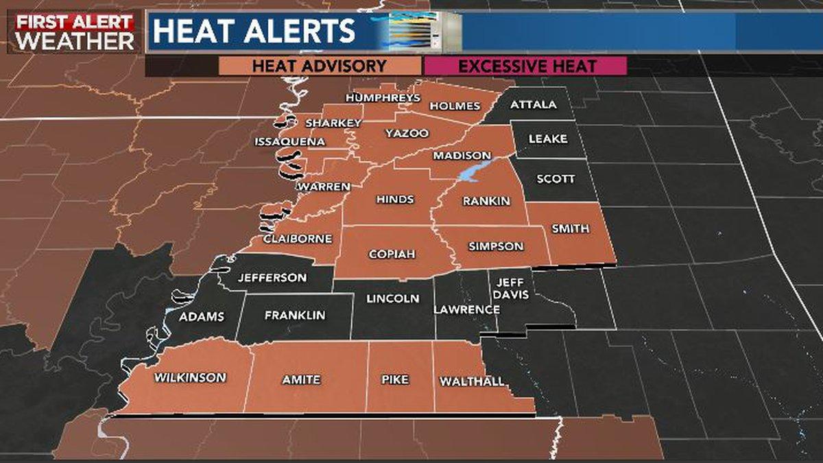 Dangerous heat possible into Sunday