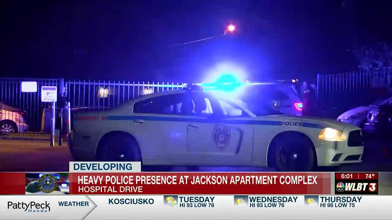 Heavy police presence at Jackson apartment complex