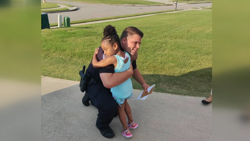 A four-year-old girl had a nightmare a police officer tried to kill her. Officer Bell came with...