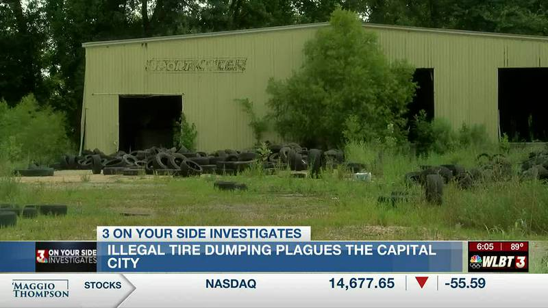 MDEQ investigates another illegal tire dump site