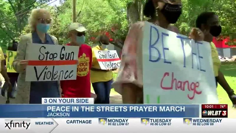 Peace march in Jackson