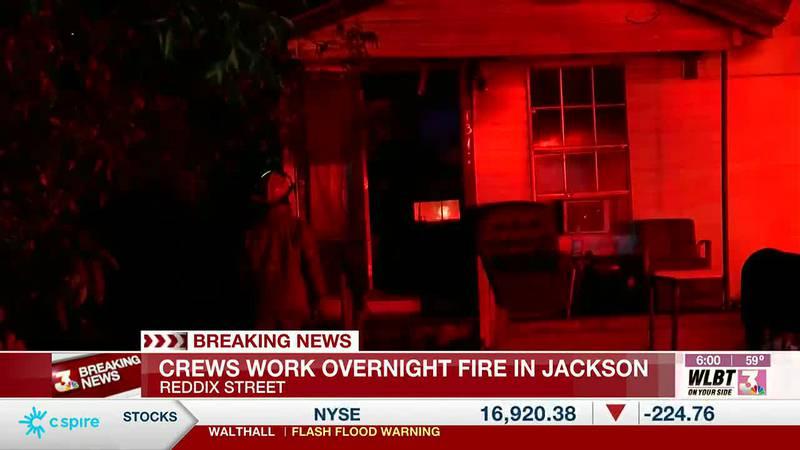 Fire engulfs home on Reddix Street