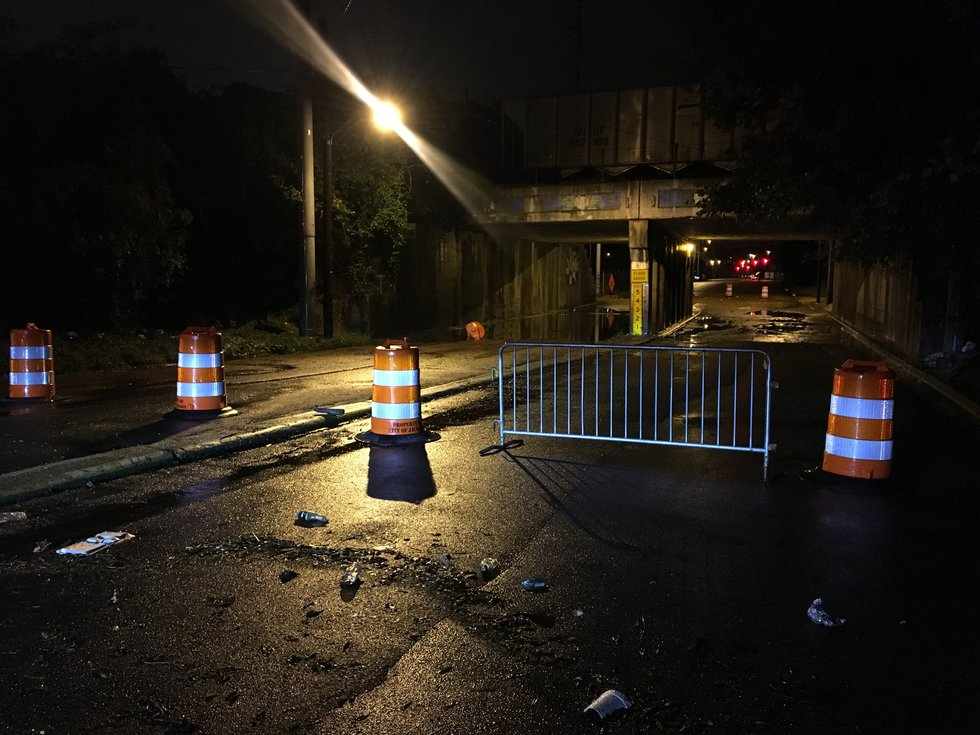 The viaduct at Monument Street, between Mill and Farish streets, is currently closed.