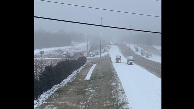 Drivers stranded on I-20 in Clinton