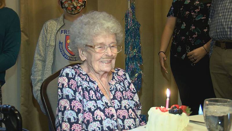 Marcella Goul turned 102 and celebrated with family and friends on Sunday.