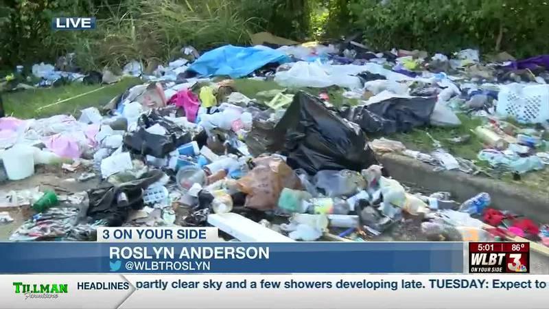Trash along I-55 corridor blamed on the homeless
