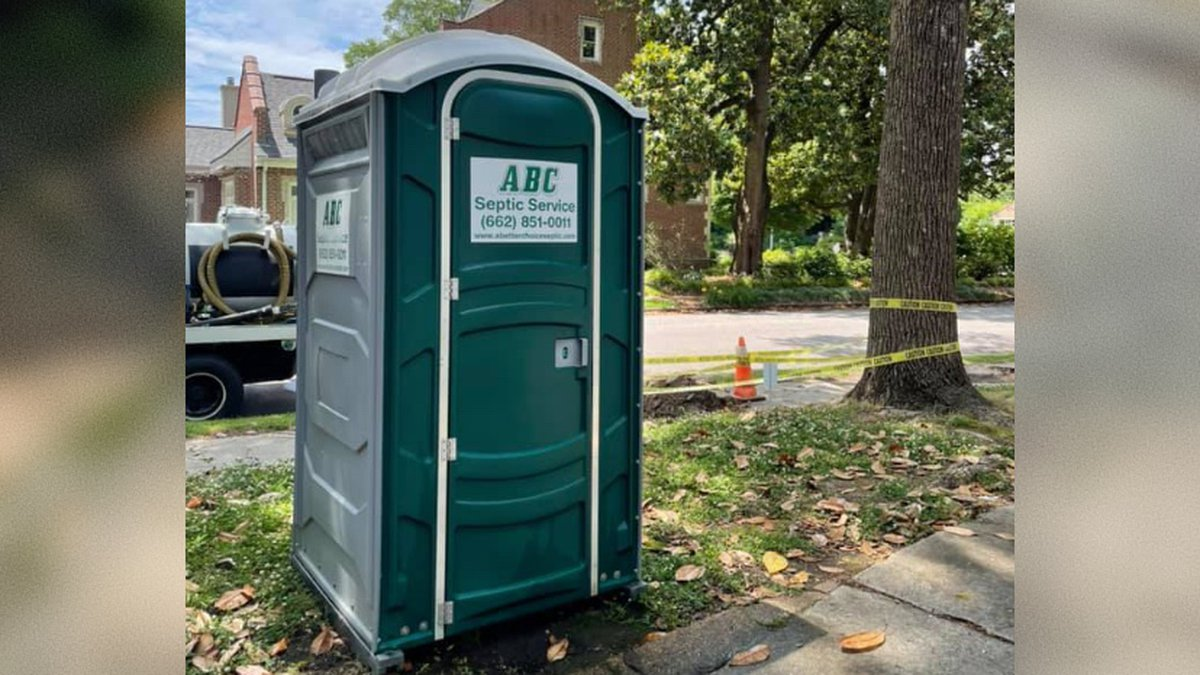 A Mississippi plumbing company is offering a $300 reward for its stolen porta potty