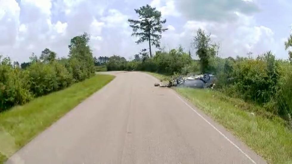 Dashcam footage shows the rescue.