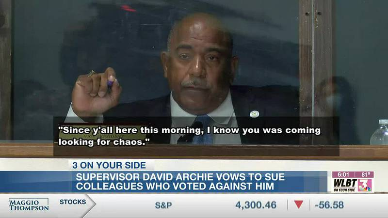 Hinds Supervisor David Archie vows to sue those who voted to strip him of his leadership title