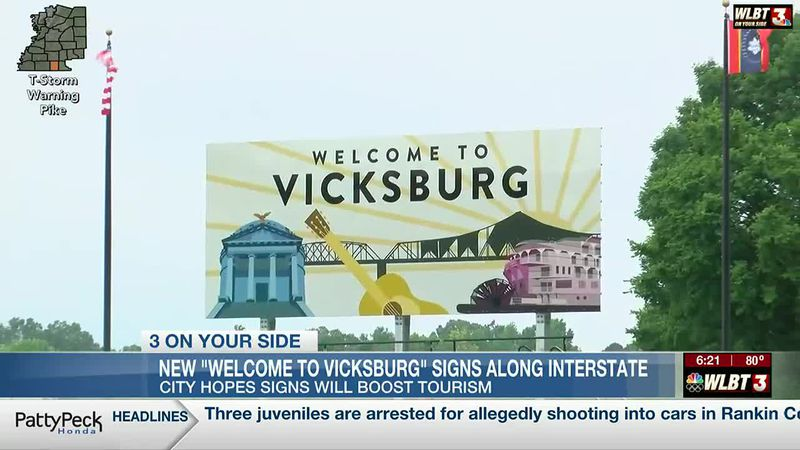 The River City hopes 'Welcome to Vicksburg' signs will be a boost to tourism