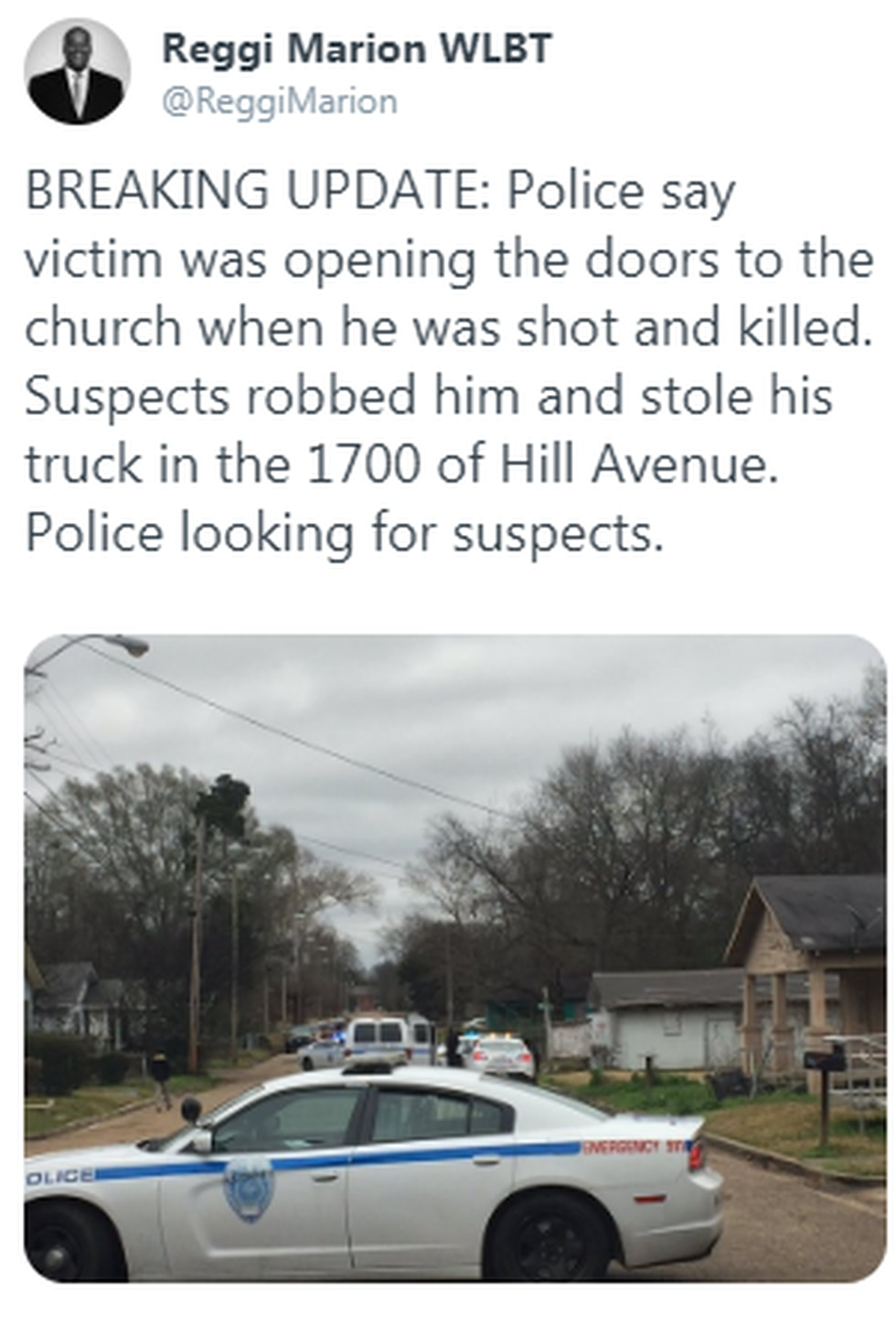 Anyone with information is asked to call Crime Stoppers at 601-355-TIPS(8477).