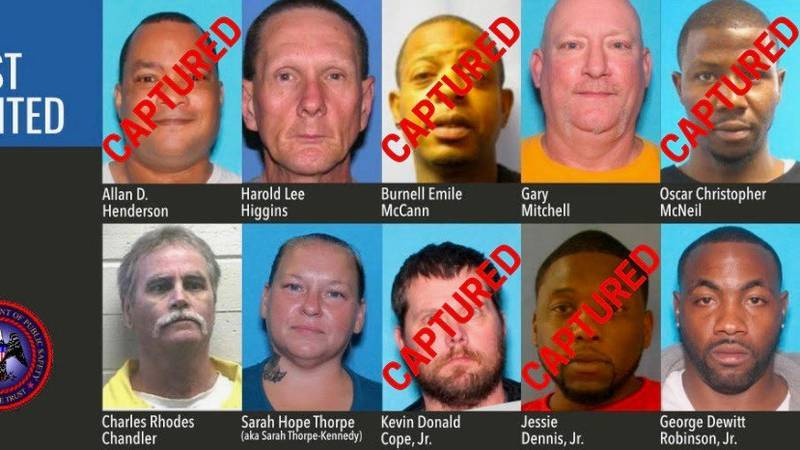 Captured suspects from MS Most Wanted list