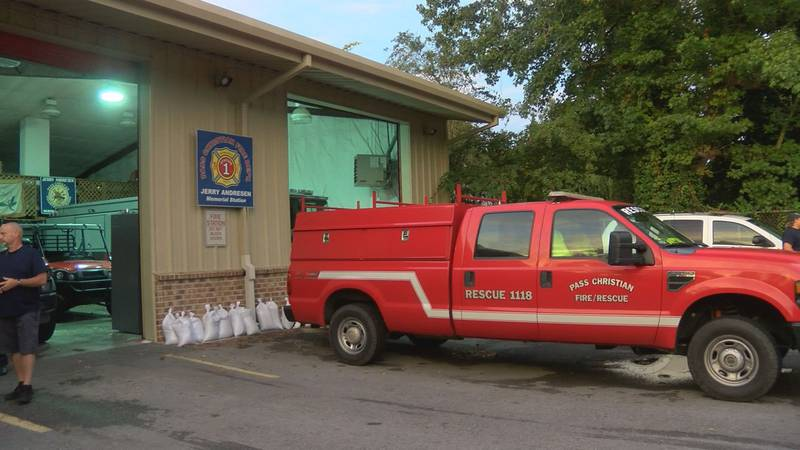 In Pass Christian, firefighters were making final preparations Monday ahead of Hurricane Sally.