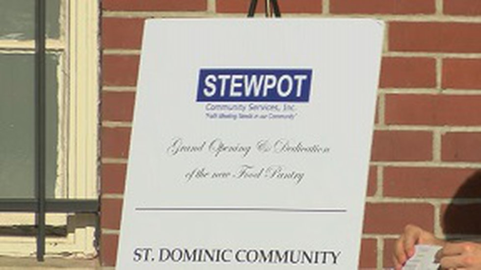 The new food pantry for Stewpot Community Services provides more access, storage and space.