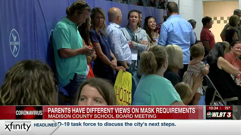 Parents have different views on mask requirements at Madison County School Board meeting Monday