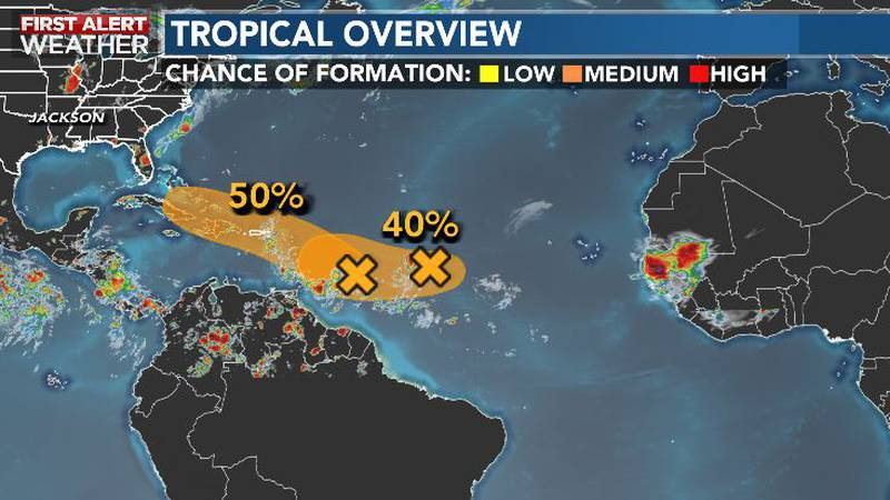 Watching the tropics over the next few days