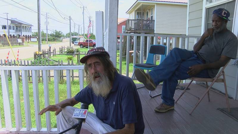 James Henry Burnett of Biloxi talks about his support for the Mississippi state flag that the...