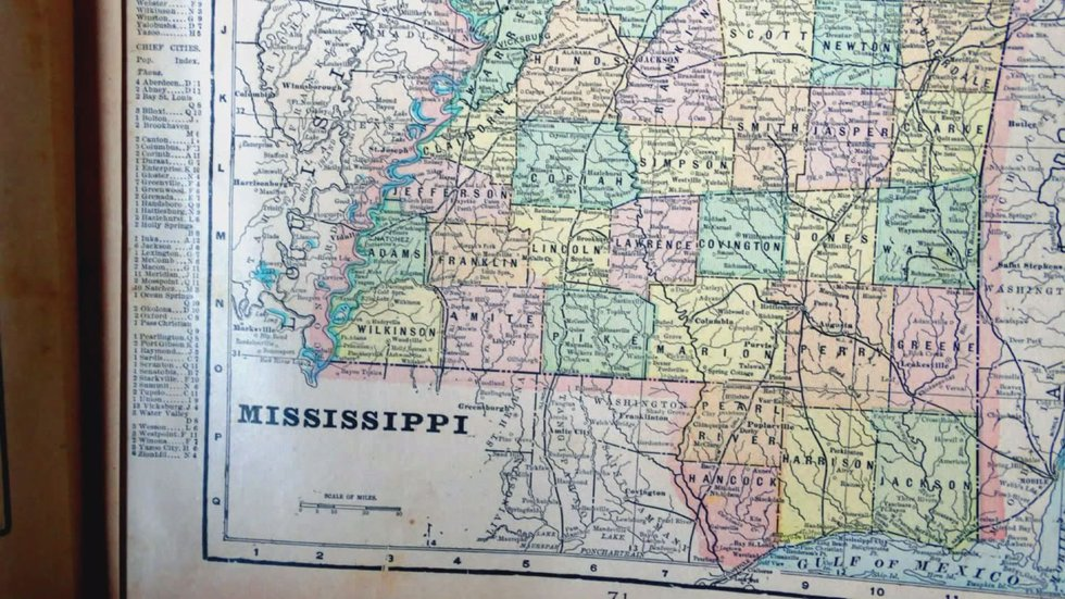 Way out, about 15 or so miles south west of Woodville, tucked away in the tall bluffs is the...