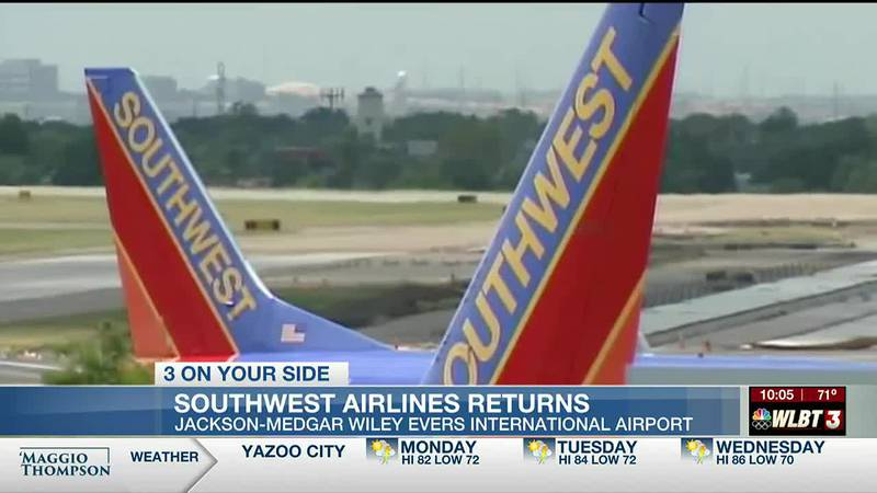 Southwest Airlines makes its big return to the Jackson Medgar Wiley Evers International Airport