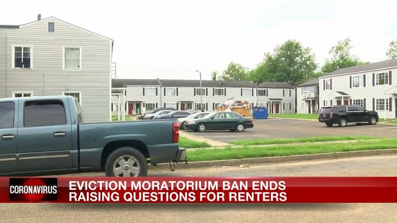 Eviction moratorium ban ends.