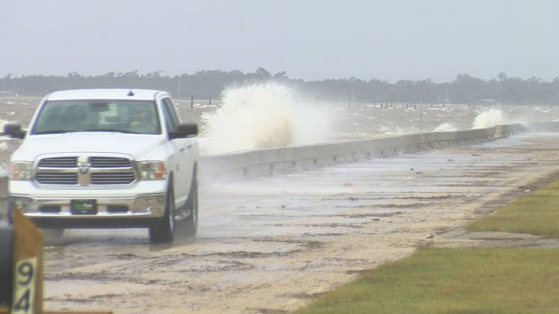 The water was up in Hancock County on Thursday and the winds were brisk but the residual...