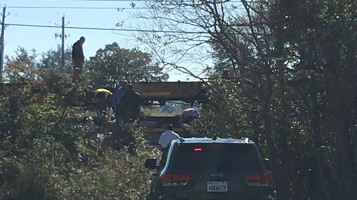 A pedestrian is dead after being hit by a train while attempting to cross the tracks in Biloxi...