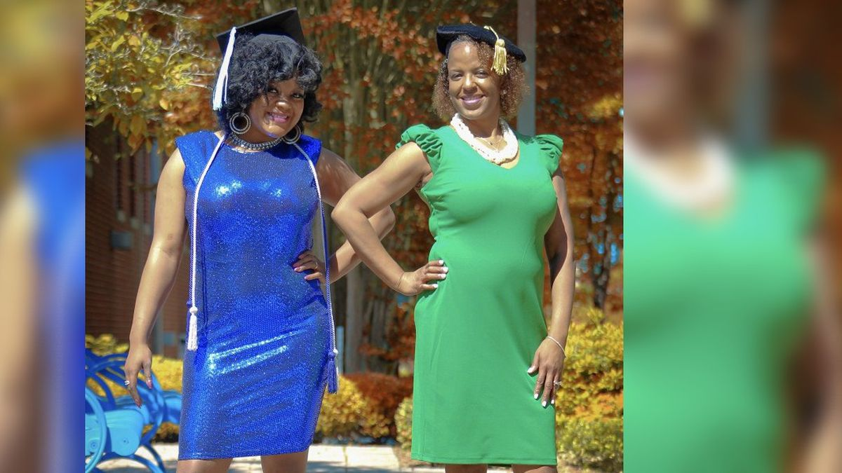 Mother-daughter duo Pamela Flowers-Magee and Jo'Vonda Flowers graduated together on May 7 from...