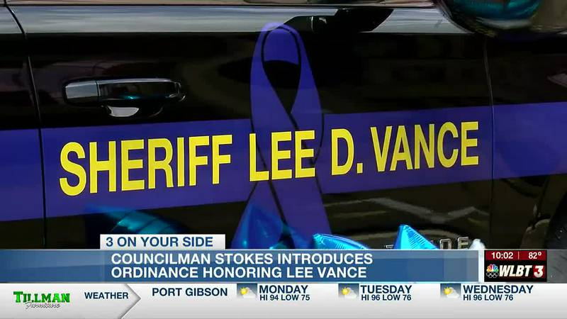 Councilman Stokes calls on city council to pass ordinance honoring Sheriff Lee Vance