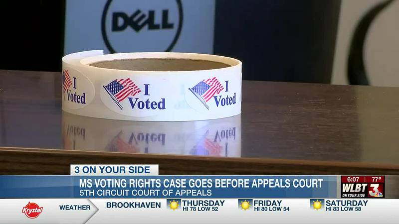 Federal appeals court hears arguments in Mississippi's felony voting ban case