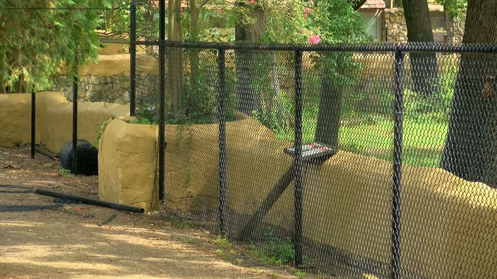 New fencing being installed at Jackson Zoo