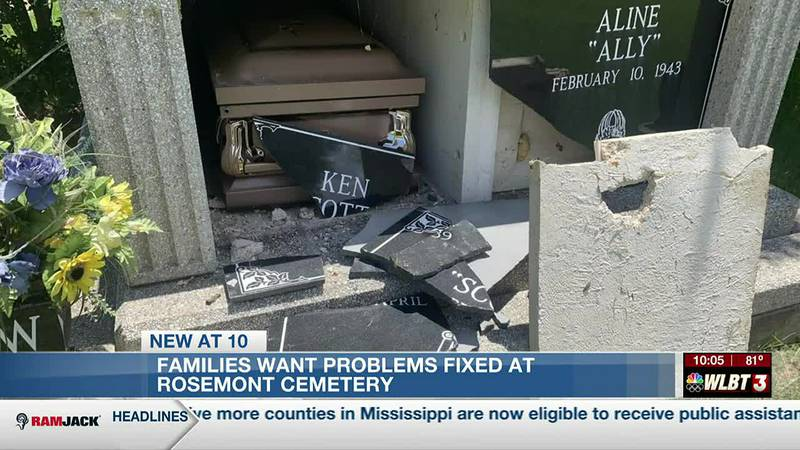 Family members angry and saddened by condition of cemetery in Jackson
