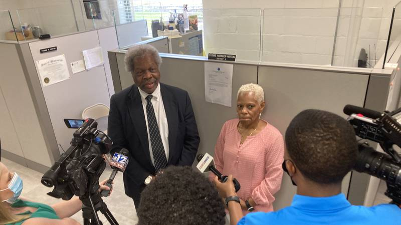 Election Commissioners Jermal Clark and Yvonne Horton discuss the board's decision to remove...