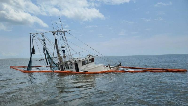 Coast Guard rescues four passengers, three adults, and one child.