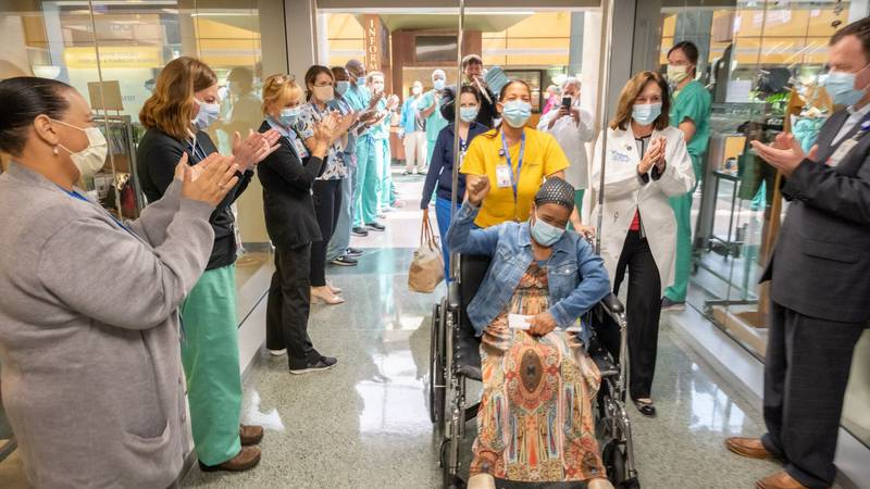 Kathleen Bennett, 57, was released from Ochsner Hospital New Orleans on Monday. She was the...
