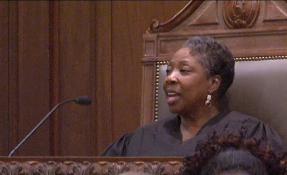File photo of Judge Tomie Green in the courtroom.