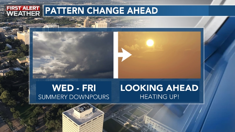 Rain Chances Remain Elevated Late Week Ahead Of Elevating Heat Levels