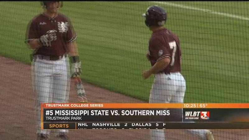 Mississippi State scores in 5 straight innings to beat Southern Miss 13-5