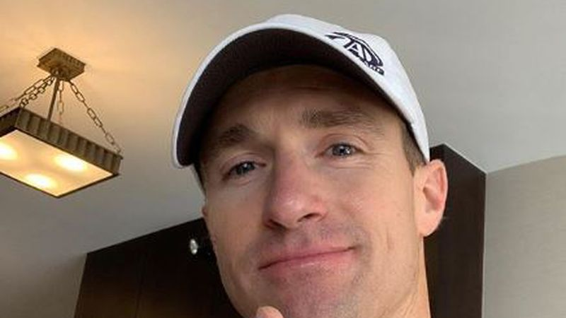 Drew Brees posted on social media to let fans know that his thumb surgery was a success