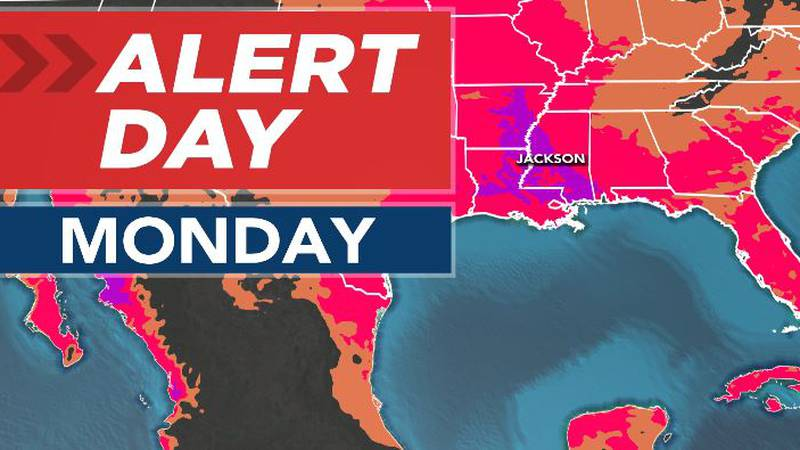 ALERT DAY for Central and Southwest Mississippi Through Mid-Week