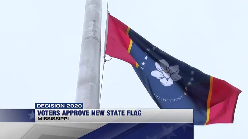 Voters approve new state flag
