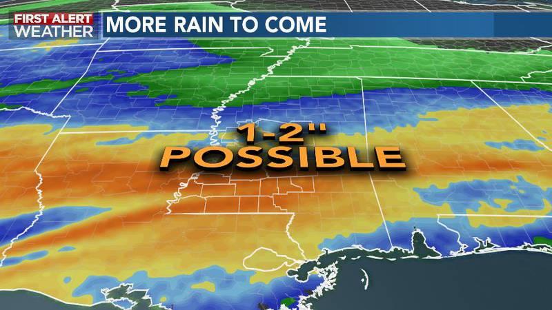 Rain Continues Wednesday, Thursday