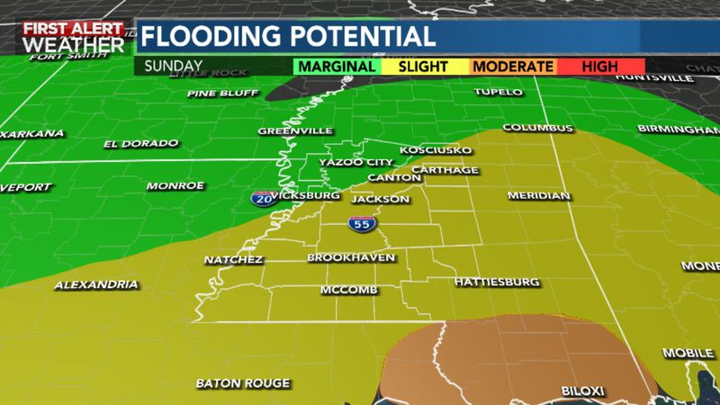 Heavy Rain and Storms Likely Throughout Our Sunday