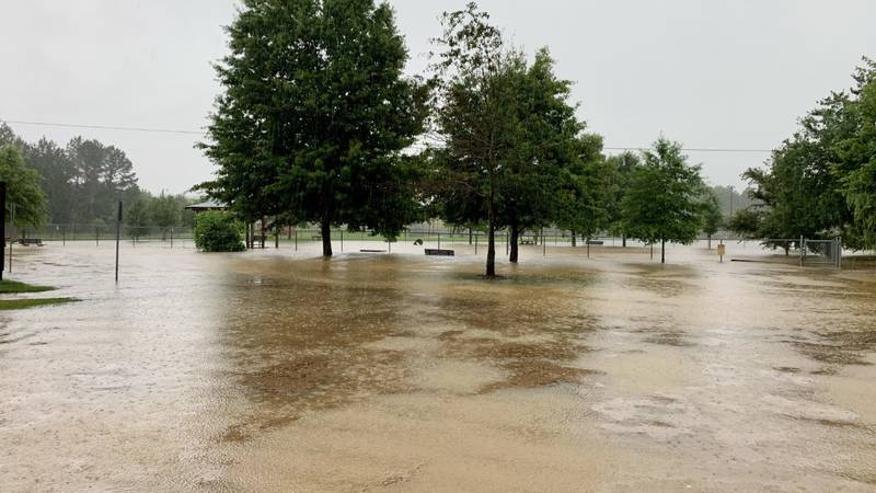 Flash flooding at Wellsgate in Oxford, Miss.