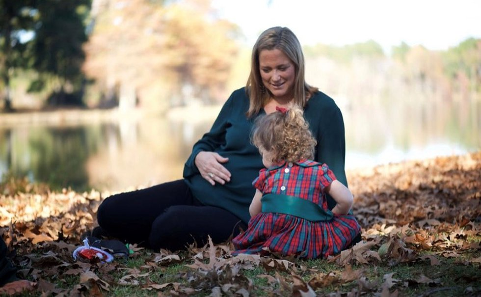 Dr. Killebrew pictured with her daughter Vivian.  She is hoping for another pregnancy.