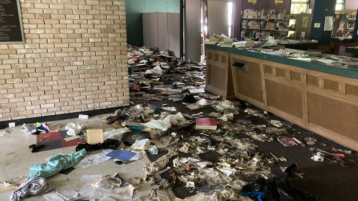 The homeless have ransacked the Charles Tisdale Library on East Northside Drive. The building...