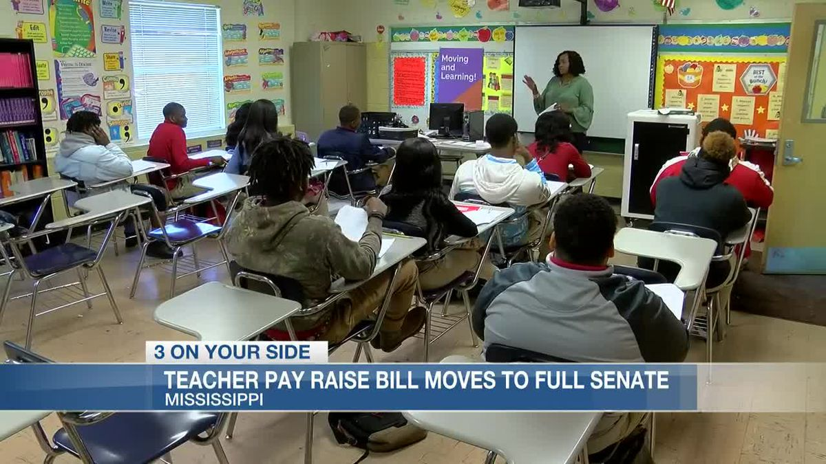 Teacher pay raise bill moves forward to Mississippi Senate