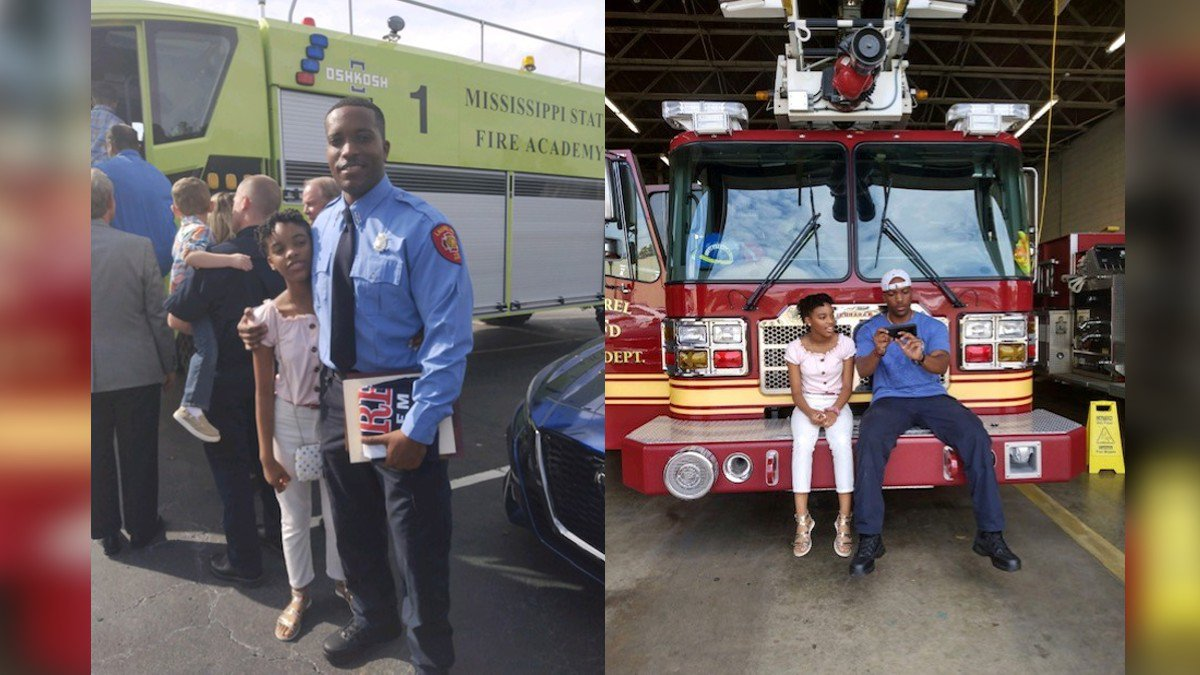'It's about determination': Army veteran, single dad graduates fire academy, teaching daughter...