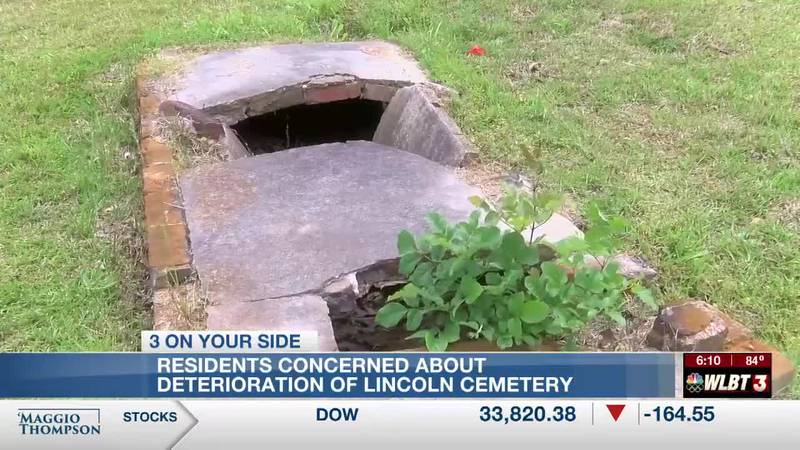 Open tombs and reported exposed remains at Lincoln Cemetery concerns residents